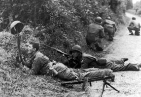 The hedgerow fighting was some of the bloodiest of all of WWII.