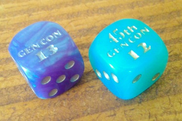 Exclusive GenCon dice. The best part - they're free!