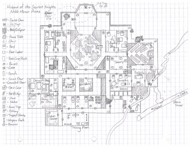 Noble Manor Ruins Map