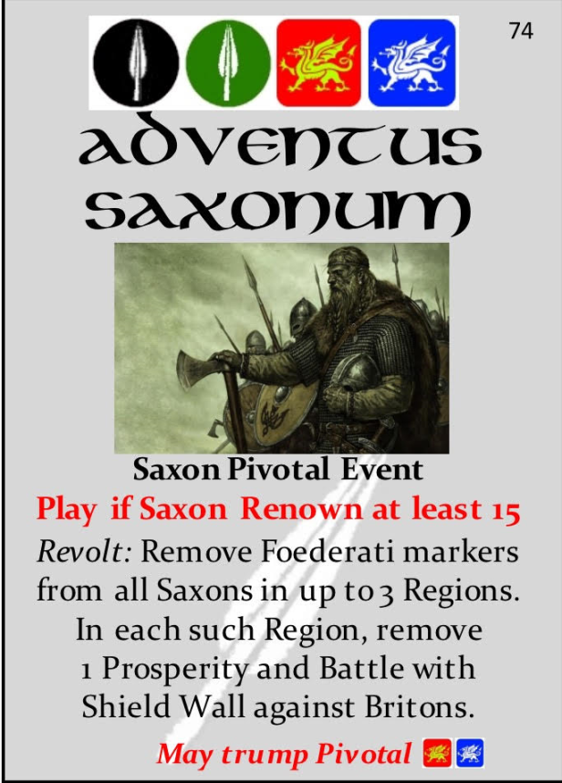 Pendragon Event Adventus Saxonum