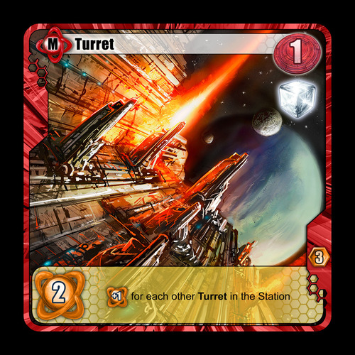 Among the Stars Turret Card