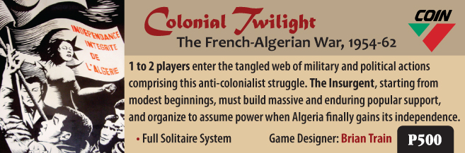 Interview with Brian Train Designer of Colonial Twilight