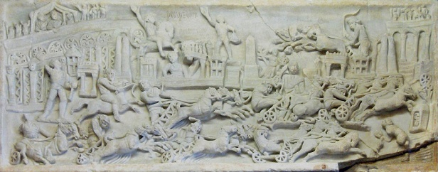 Chariots of Rome Relief Carving