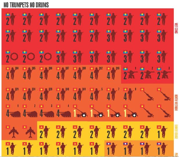 No Trumpets No Drums VC NVA Counters Color Coded