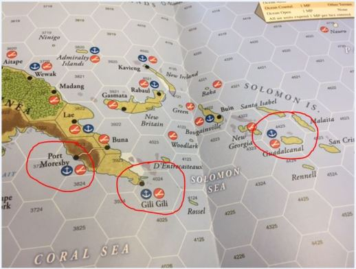 South Pacific Initial Attack Areas