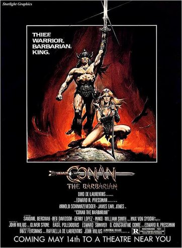 Conan the Barbarian Movie Poster Large