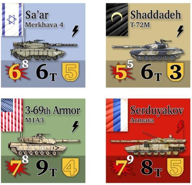 Armageddon War Tank Counters