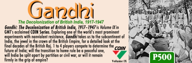 Gandhi COIN Game Banner 2