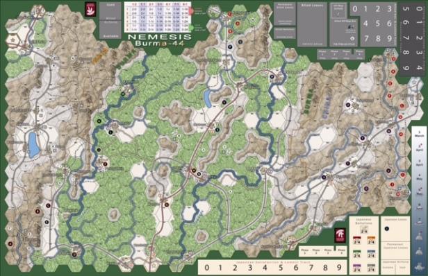 Nemesis Burma 1944 Map