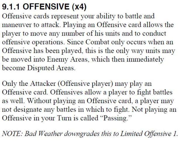 Offensive Card At All Costs!
