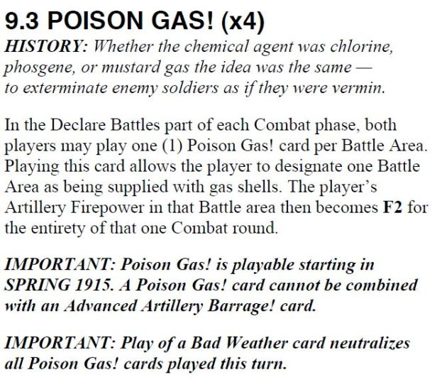 Poison Gas Card At All Costs!