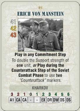 Absolute War Card Erich von Manstein