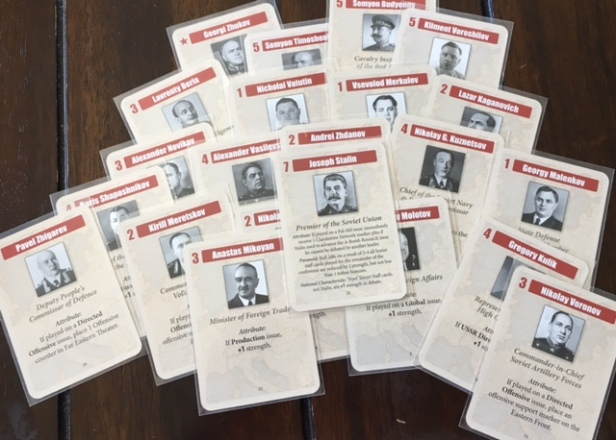 Churchill Soviet Staff Cards