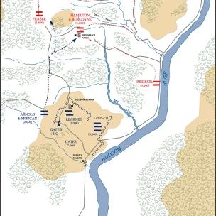 Saratoga Battle Map - Freeman's Farm