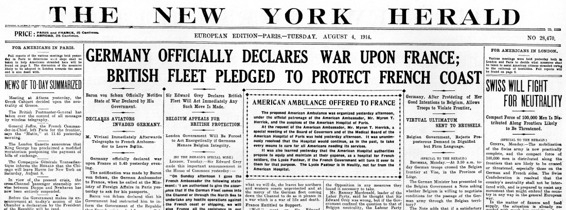 Image result for did germany declare war on france in ww1