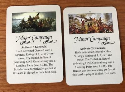 Washington's War Campaign Cards
