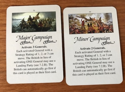 Washington's War Campaign Cards