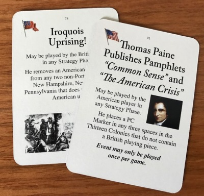 Washington's War Event Cards