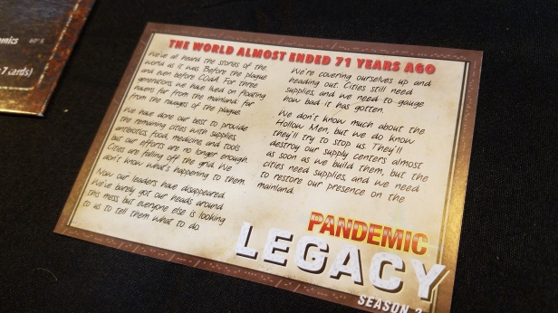 SPOILERS* Pandemic Legacy: Season 2 – The Players' Aid