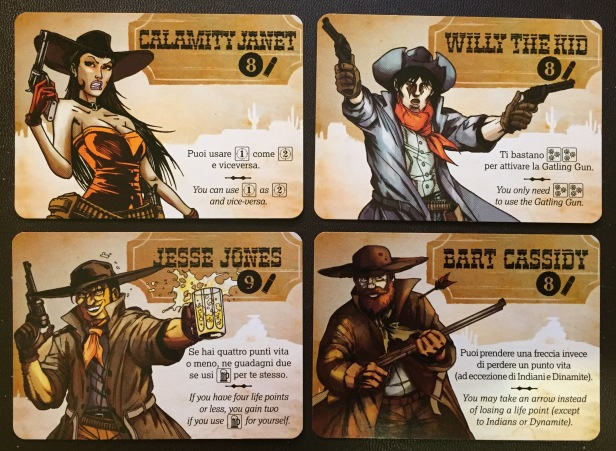 BANG The Dice Game Character Cards