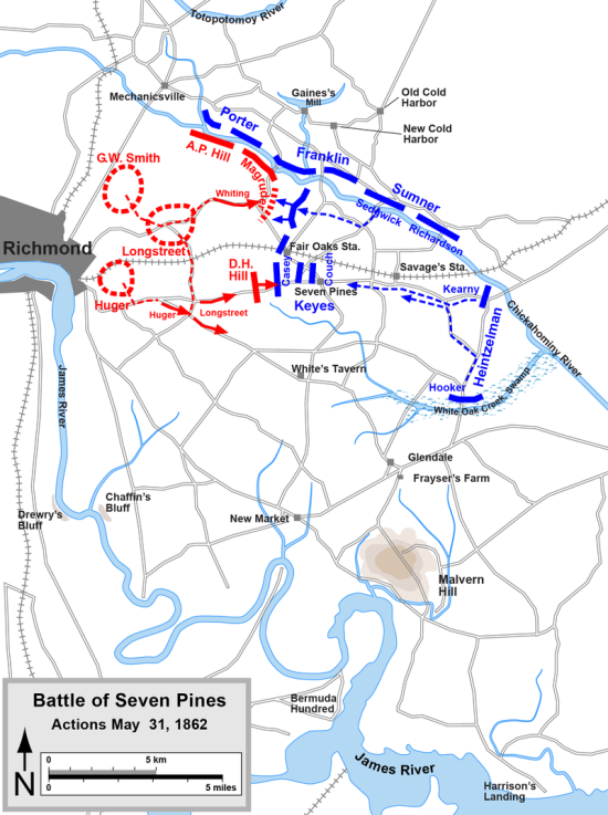 Battle Map Seven Pines