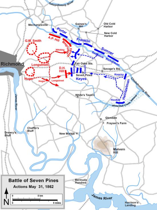 Battle Map Seven Pines