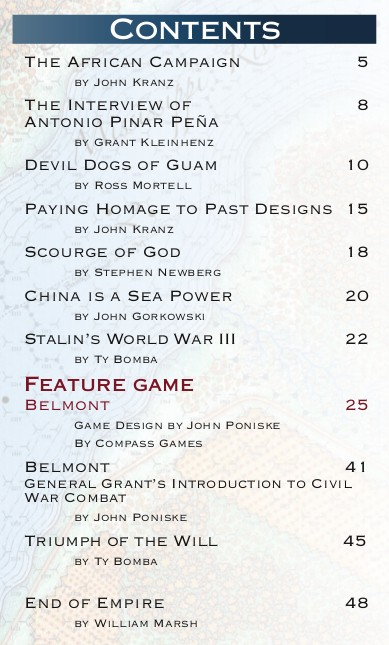 Paper Wars 87 Table of Contents