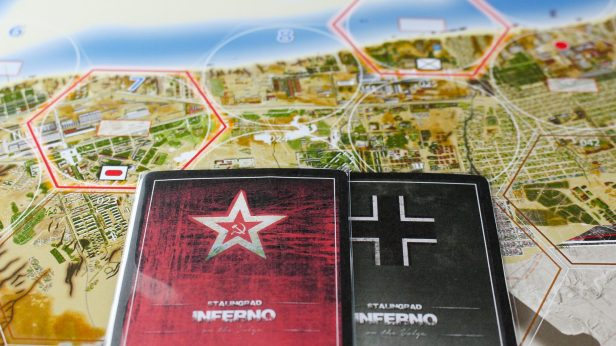 Stalingrad Cards on Map