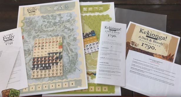 Unboxing Kekionga and St. Clair's Folly - High Flying Dice Games