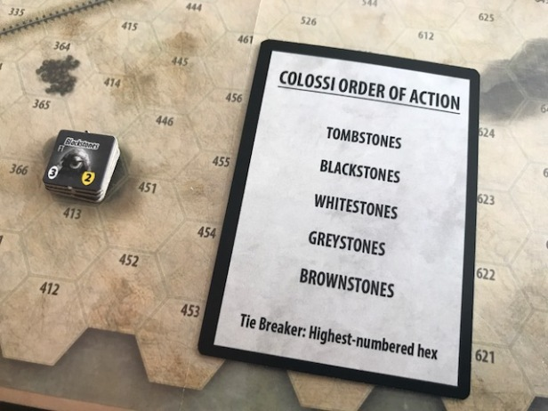Attack of the 50 Foot Colossi AI Colossi Order of Action Cards 2