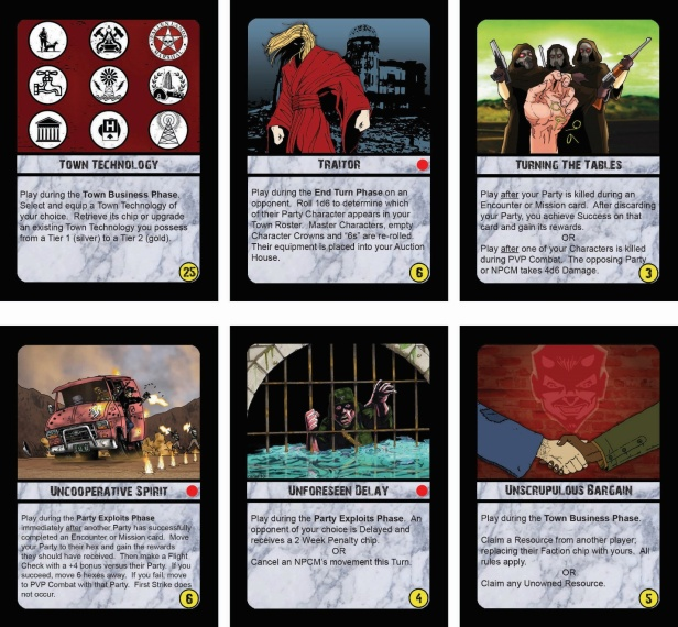 Fallen Land Action Cards