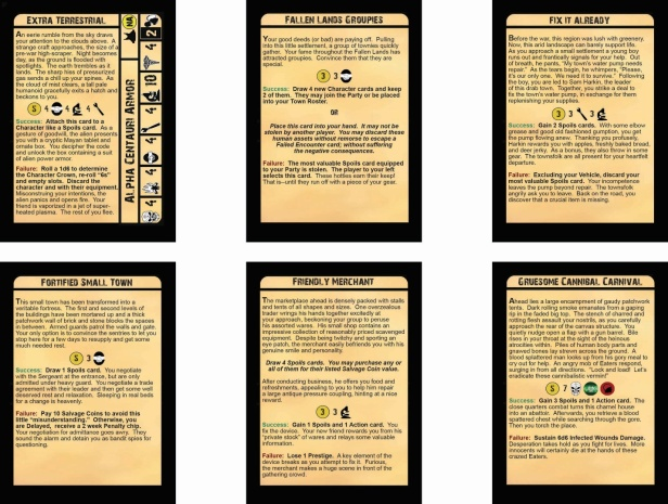 Fallen Land Encounter Cards