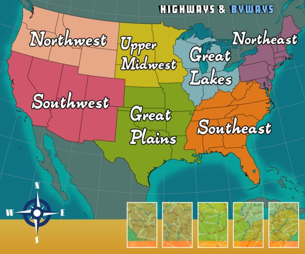Highways & Byways Updated Regions