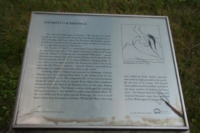 The Battle of Kekionga Historical Marker
