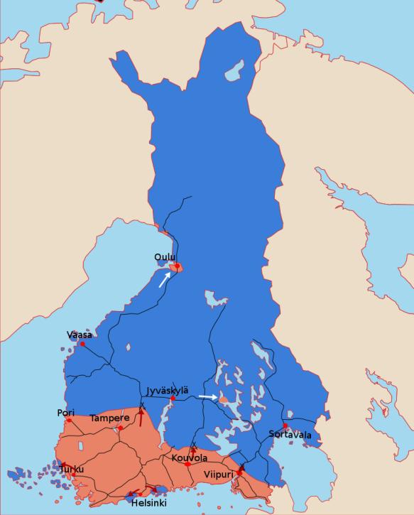 All Bridges Burning Finnish Civil War Map Begin_svg