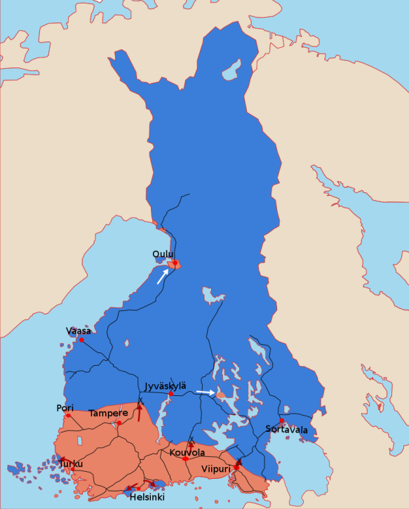 All Bridges Burning Finnish Civil War Map Begin_svg
