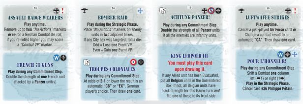 No Retreat 3 Event Cards