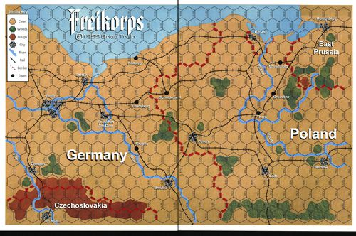 Freikorps Map