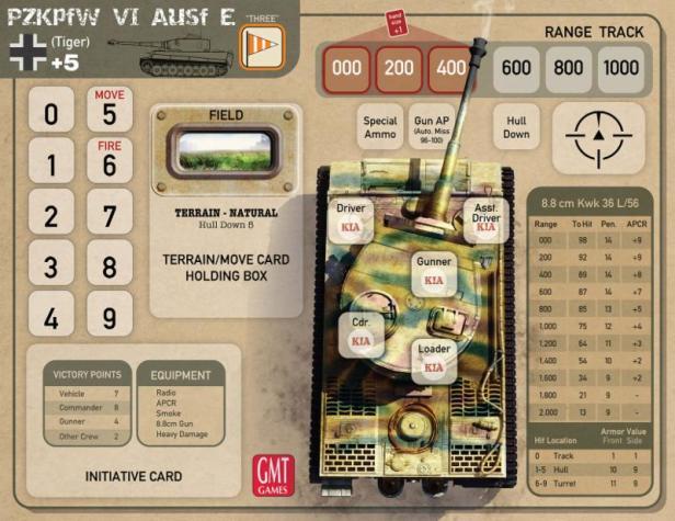 Tank Duel Tank Card