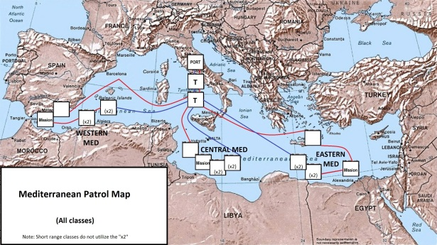 Beneath the Med Mediterranean Patrol Map