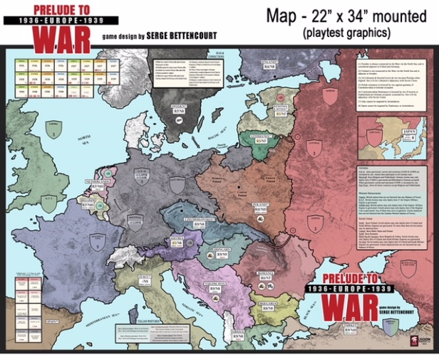 Prelude to War Europe 1936-1939 Legion Wargames
