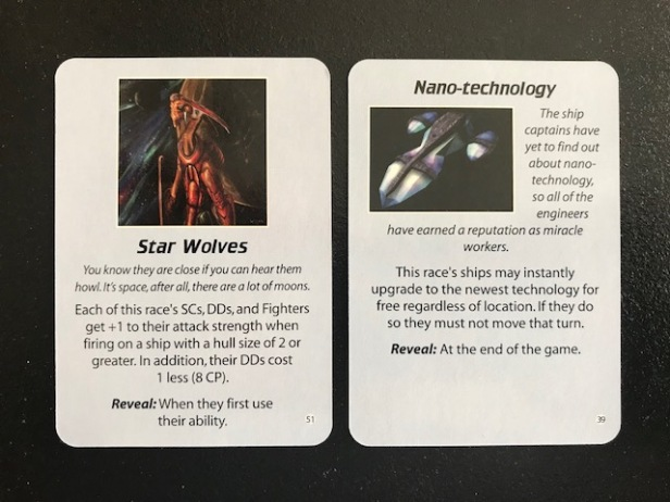 Space Empires 4X Empire Advantage Cards Imbalance