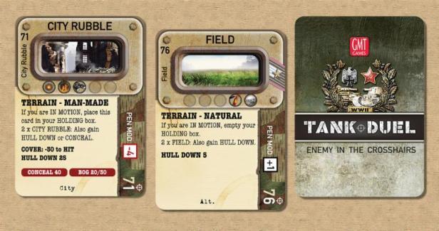 Tank Duel Terrain Cards