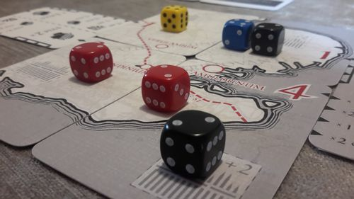 COIN Tribe Revolt Dice on Map