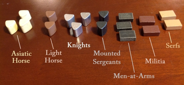 Nevsky Forces pieces by type