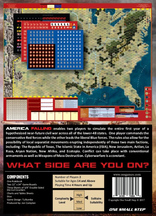America Falling Map