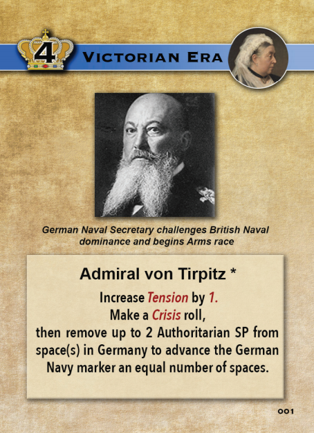 Europe in Turmoil Card Amdiral von Tirpitz