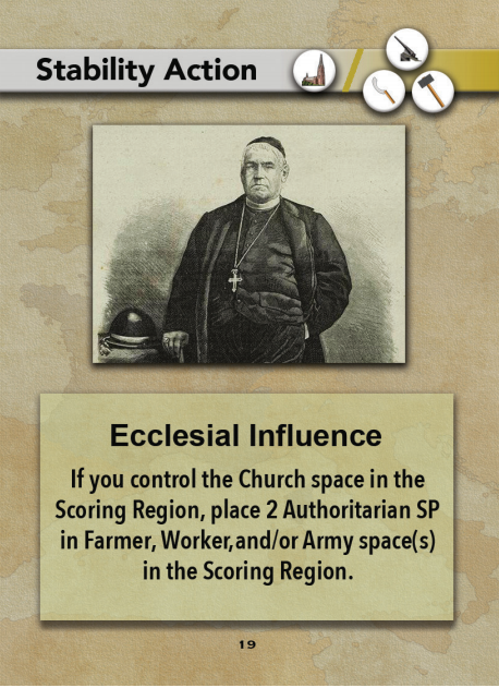 Europe in Turmoil Card Ecclesial Influence