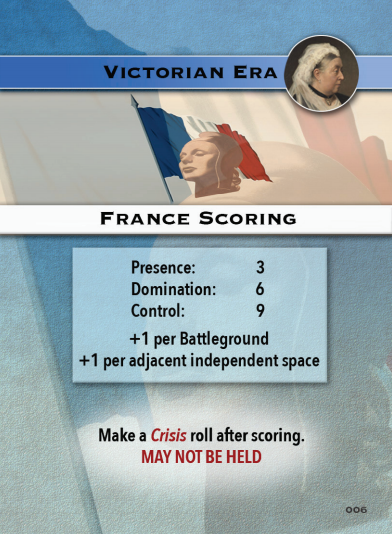 Europe in Turmoil Card France Scoring