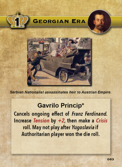 Europe in Turmoil Card Gavrilo Princip